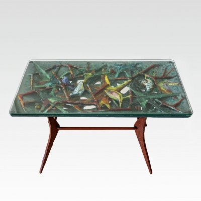 Stunning Ceramic Coffee table by San Polo, Venice 1950s