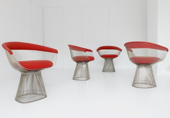 4 x Platner dining chair by Warren Platner for Knoll, 1960s