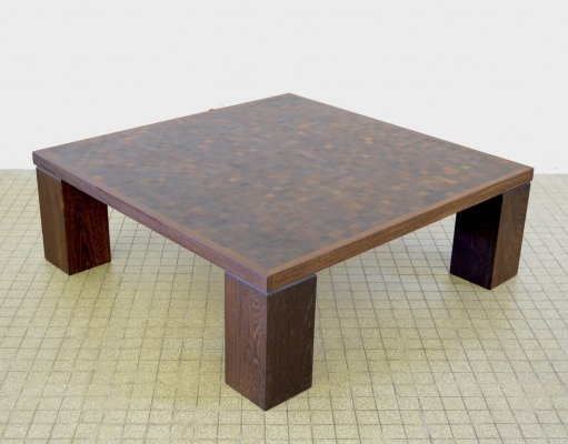 Vintage wengé coffee table, 1970s