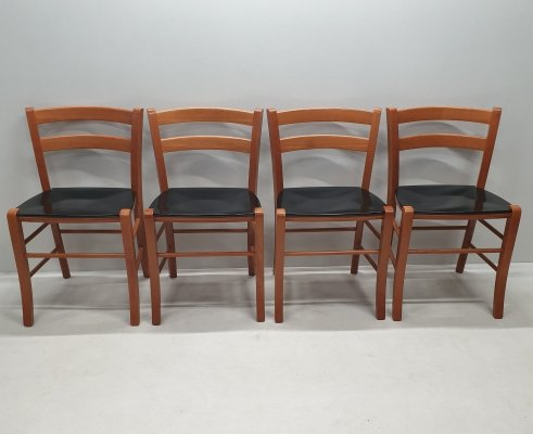 Set of 4 Marocca dining chairs by Vico Magistretti for De Padova, 1980s