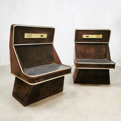 Set of 2 vintage Space Age design night stands