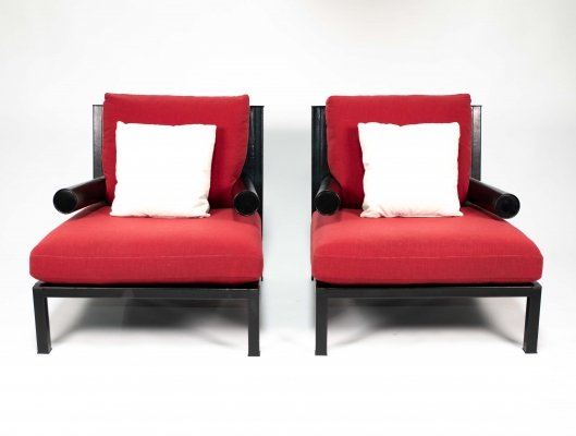 Pair of armchairs 'Baisity' by Antonio Citterio for B&B Italia