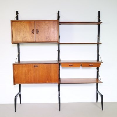 Birch plywood bookcase storage unit by Louis van Teeffelen, 1960s