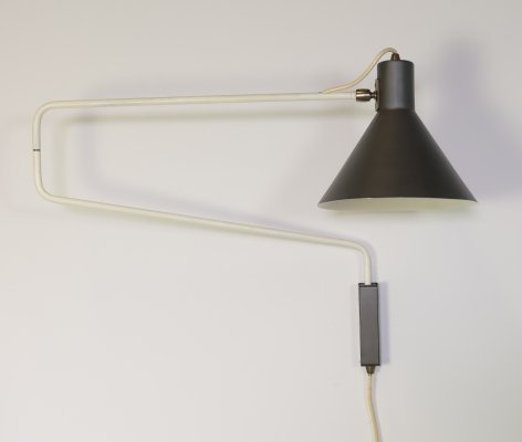 Paperclip wall lamp by J. Hoogervorst for Anvia Almelo, 1960s