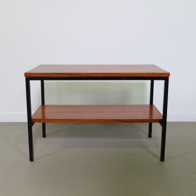 Teak side table with extra layer, 1960s