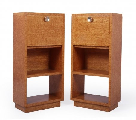 Pair of Bedside Cabinets in Karelian Birch