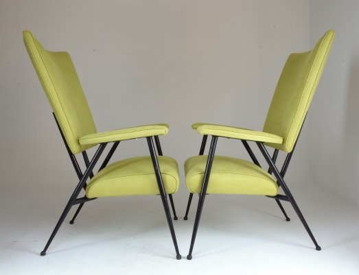 4 x French Mid-Century Armchair, 1950's