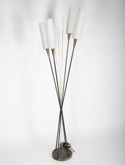 Roseaux floor lamp by René Mathieu for the Lunel House, 1950s