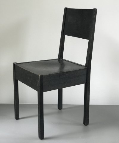 3 x dining chair by J. A. Muntendam for L. O. V. Oosterbeek, 1920s
