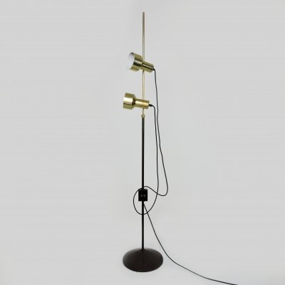 Mid-Century Gold Double Spotlight Floor Lamp, 1960s