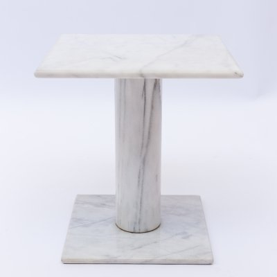 Carrara marble side table, Italy 1970s