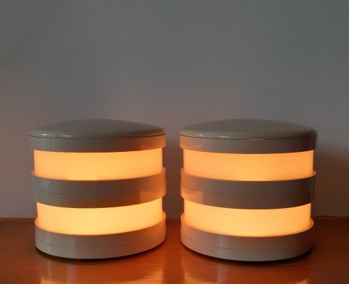 Pair of desk lamps by Ambrogio Brusa for Bilumen, 1970s