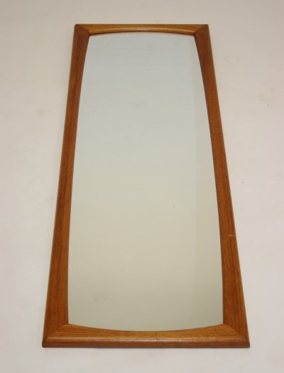 Large Teak wooden rectangular mirror