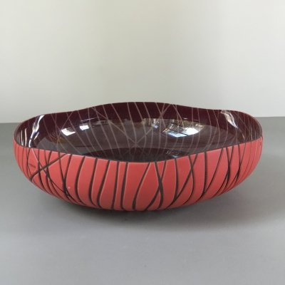 Fill d'Arianna Glass bowl by Monica Guggisberg for Venini, 1990s