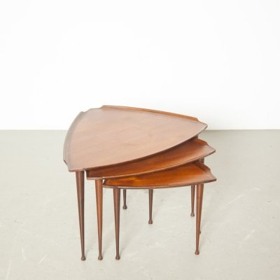 Nesting table set by Poul Jensen for Selig, 1950s