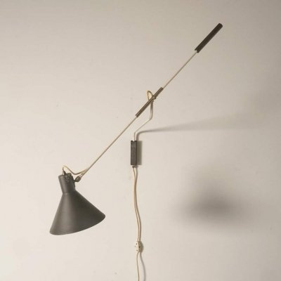 Rare model wall lamp by J. Hoogervorst for Anvia, 1950's