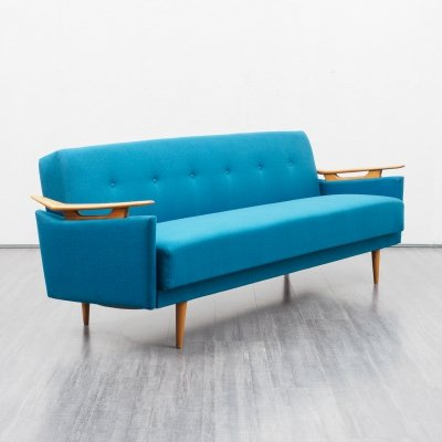 Mid-Century 1960s sofa with fold-out guest bed