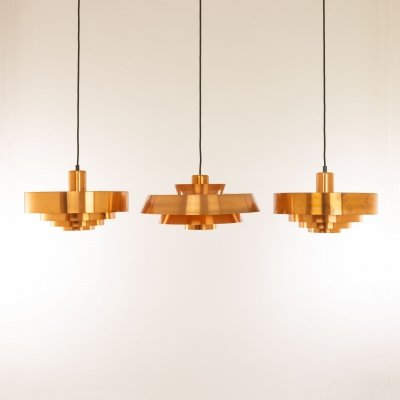 Set of Copper Pendants by Jo Hammerborg for Fog & Mørup