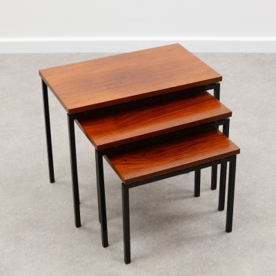 Teak nesting tables by Cees Braakman for Pastoe