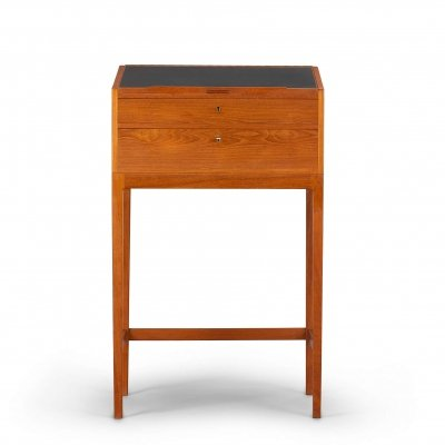 High teak writing desk by Svend Langkilde for Langkilde Mobler, 1950s