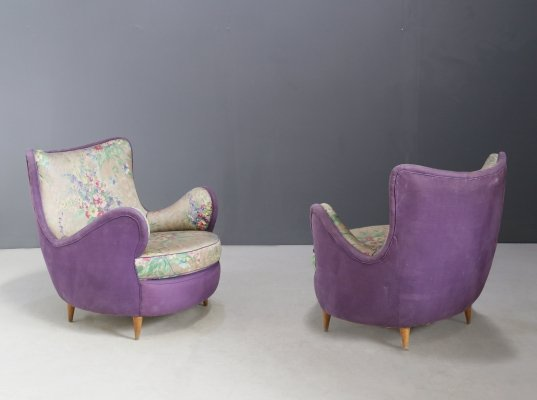 Pair of MidCentury armchairs by Rito Valla, 1950s
