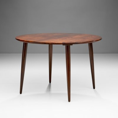 Circular Coffee Table With Slightly Tapered Legs, Denmark 1960s