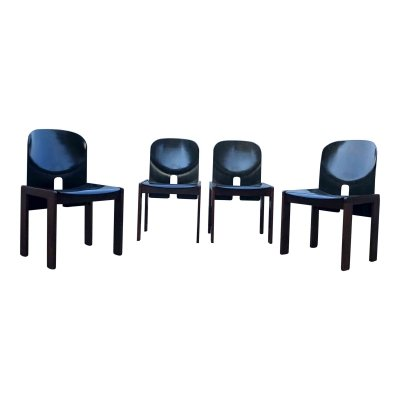 Set of 4 Model 121 dining chairs by Tobia Scarpa & Afra Scarpa for Cassina, 1960s