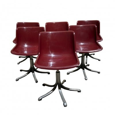 Set of 6 Modus Chairs by Osvaldo Borsani for Tecno, 1970s