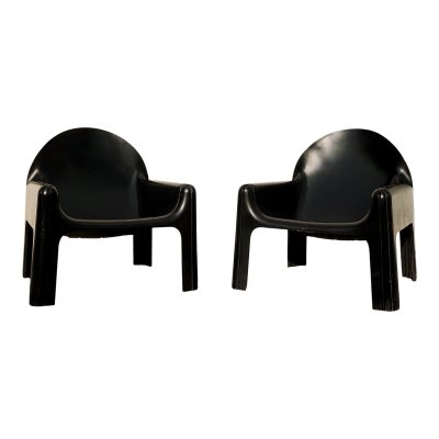 Pair of model 4794 lounge chairs by Gae Aulenti for Kartell, 1970s