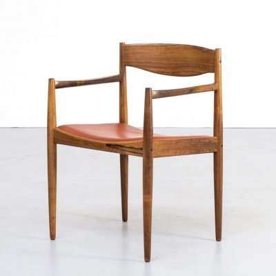 60s Rosewood & leather chair by Henry W. Klein for Bramin