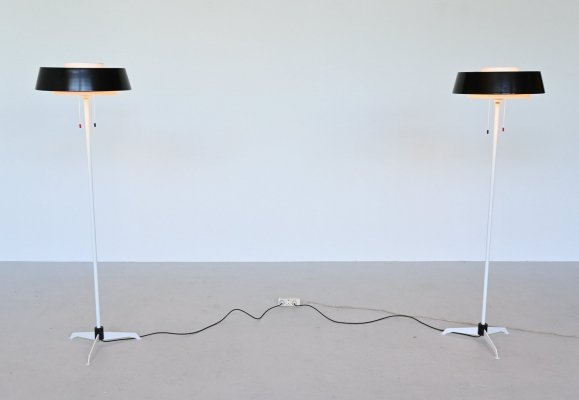 Niek Hiemstra ST 7128 floor lamps by Hiemstra Evolux, The Netherlands 1950