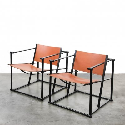 2 x Kubus FM62 arm chair by Radboud van Beekum for Pastoe, 1980s