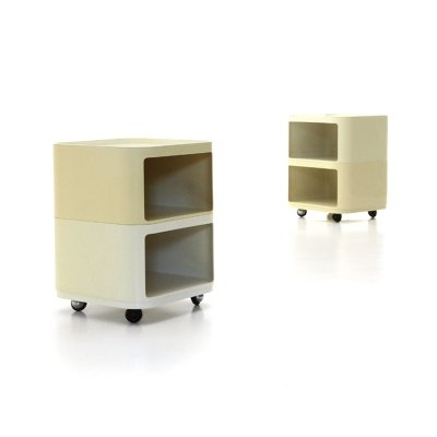 Pair of Square Componibili Containers by Anna Castelli Ferrieri for Kartell, 1970s