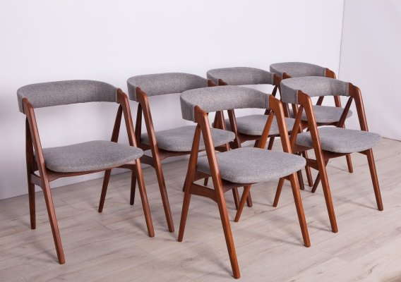 Set of 6 Dining Chairs by Th. Harlev for Farstrup Møbler, 1960s