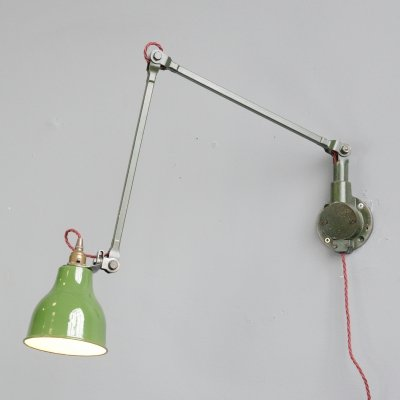 Industrial Wall Lamps by Mek Elek, Circa 1930s