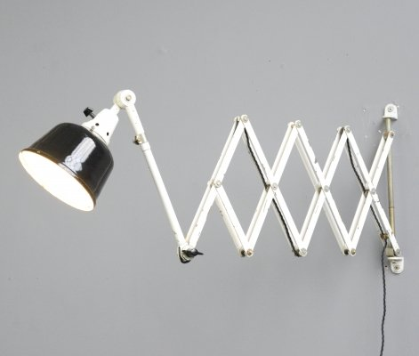 XL Wall Mounted Scissor Lamp by Midgard, Circa 1940s