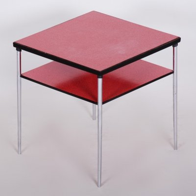 20th Century Czech Square Umakart Bauhaus Table with Chrome-plated steel, 1930s