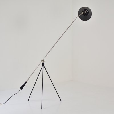 Early 'Magneto' floor lamp by H. Fillekes for Artiforte, The Netherlands 1954