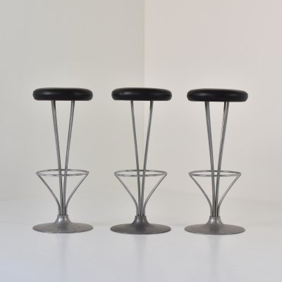 Set of three bar stools by Piet Hein for Fritz Hansen, Denmark 1960s