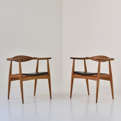 Rare set of CH35 chairs by Hans Wegner for Carl Hansen & Son, Denmark 1950's