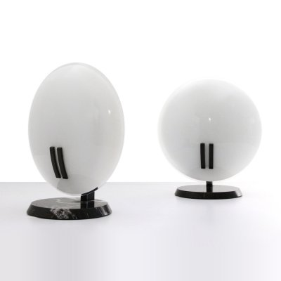 Pair of 'Perla' table lamps by Bruno Gecchelin for Oluce, 1980s