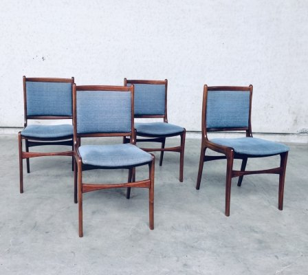 1960's Dutch Design set of 4 Rosewood Dining Chairs