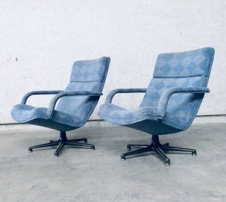 Pair of F141 Swivel Lounge Chairs by Geoffrey Harcourt for Artifort, 1970s