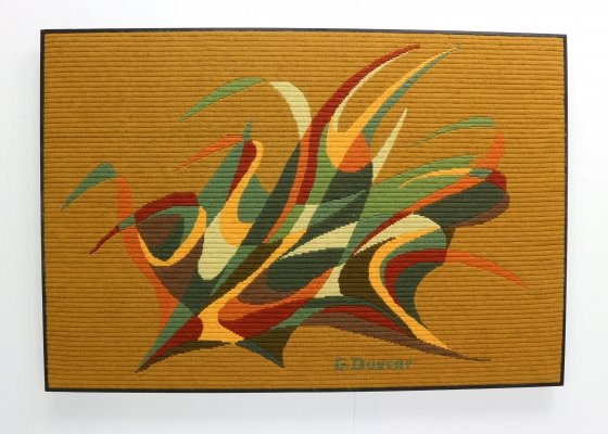 Abstract Art Tapestry by G. Duvert, France 1970s
