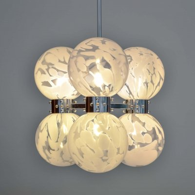 Ball Chandelier by Carlo Nason for Mazzega