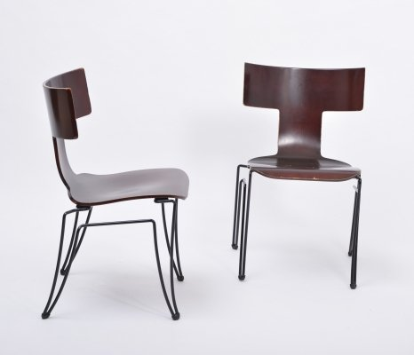 Pair of vintage Anziano Dining Chairs by John Hutton for Donghia
