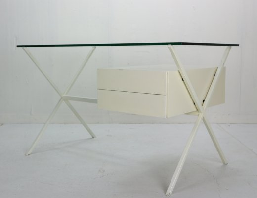 Franco Albini Glass & Metal Writing Desk for Knoll International, 1949
