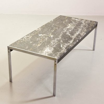 Minimalistic black marble coffee table by Kho Liang Ie for Artifort, 1960s