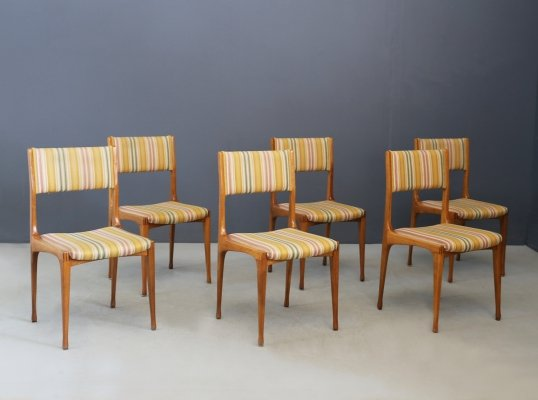 Set of 6 'Model 693' Carlo De Carli chairs for Cassina, 1950s