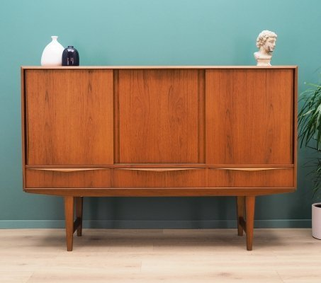 Danish design Highboard in teak by E.W. Bach, 1960's